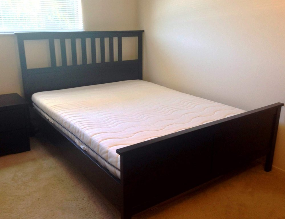 Black Wood Bed Frame