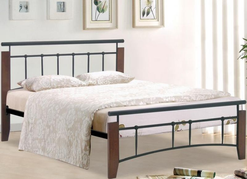 Black Wood Single Bed Frame