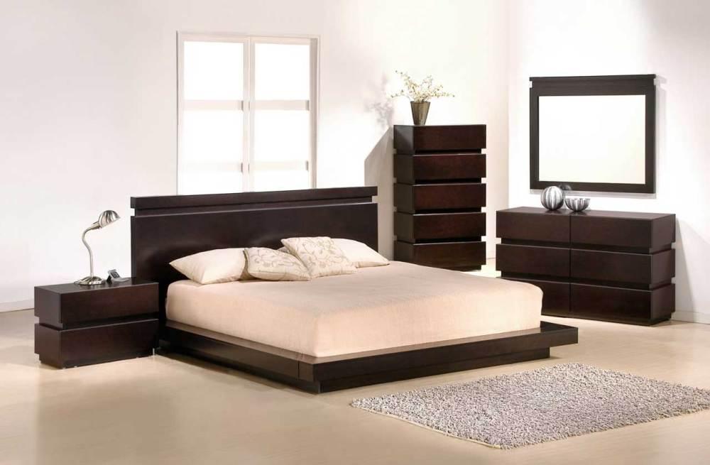 Black Wooden King Size Bed Frame
