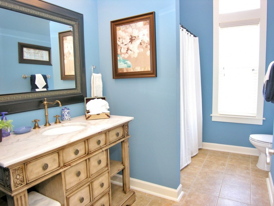 Blue And Tan Bathroom Ideas