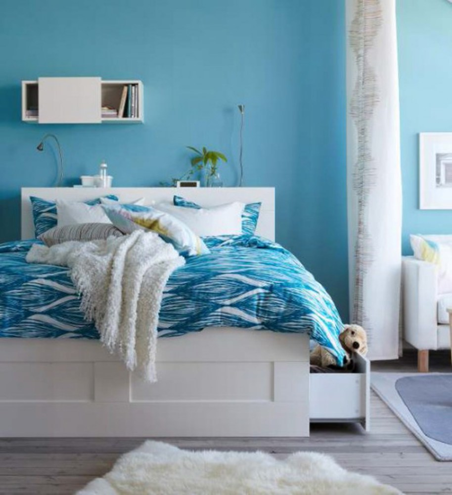 Blue Bed Frame Ikea