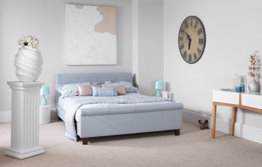 Blue Double Bed Frame