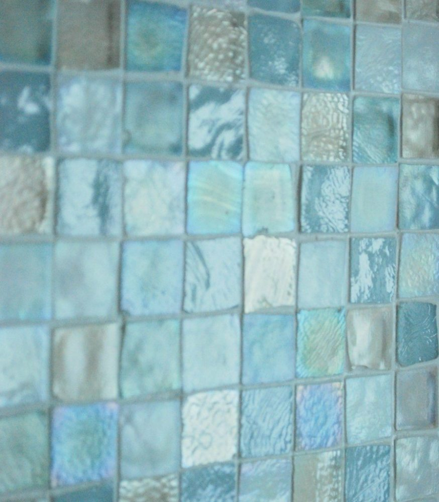 Blue Glass Tile Bathroom Ideas