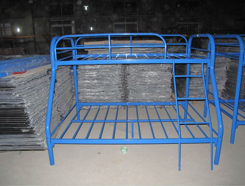 Blue Metal Bed Frame
