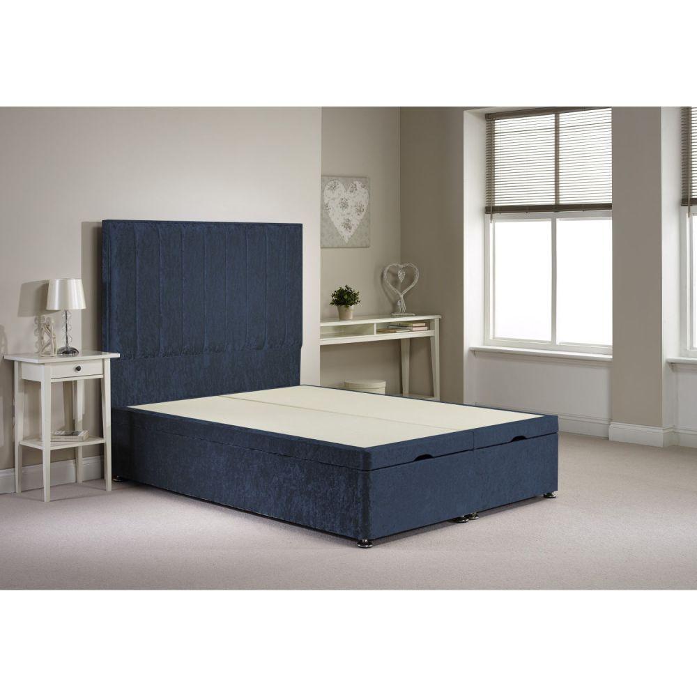 Blue Velvet Bed Frame