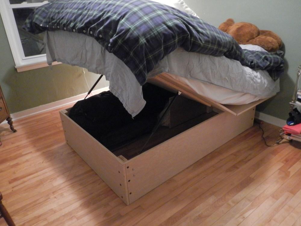 Blue Wooden Bed Frame
