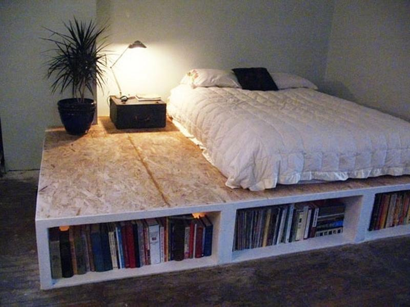 Bookcase Bed Frame Diy