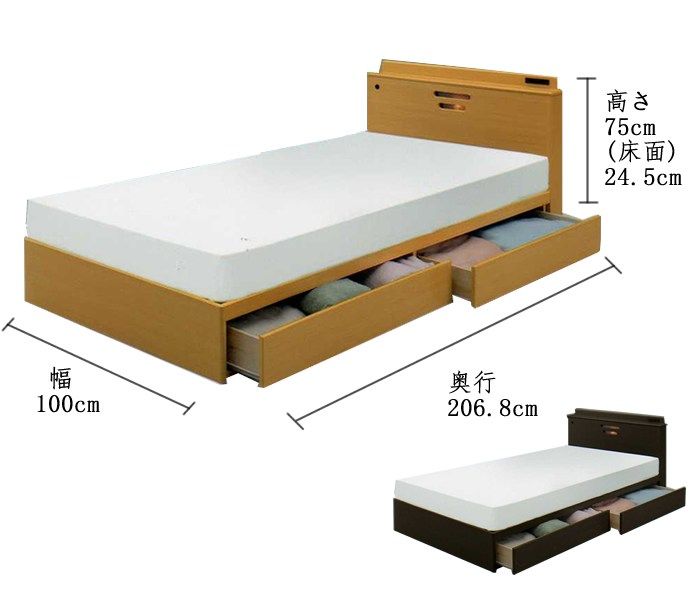 Box Bed Frame With Drawers