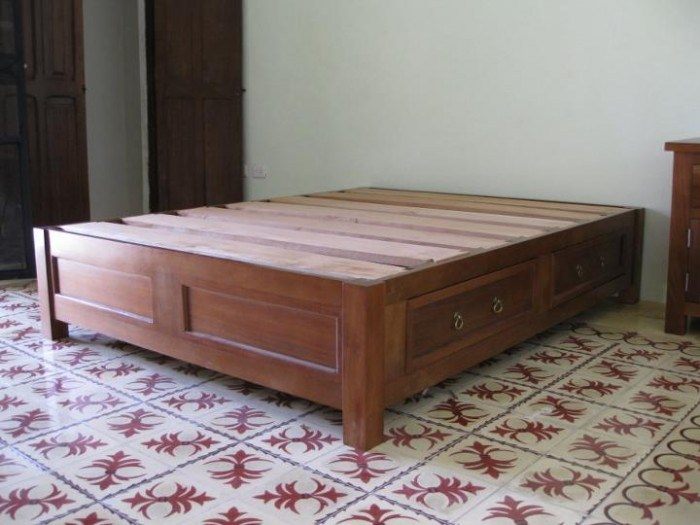 Box Frame Bed With Storage