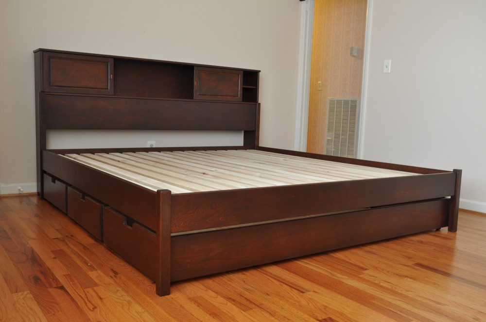 Brimnes Queen Bed Frame With Headboard