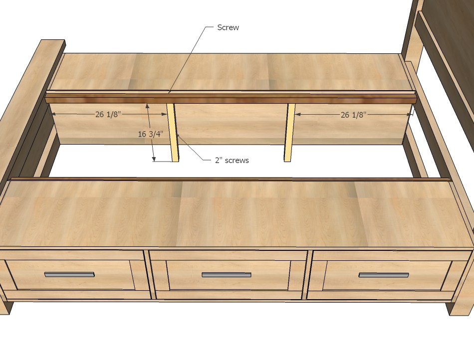 Build A Bed Frame With Storage Underneath