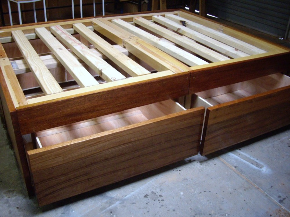 Build Bed Frame With Drawers