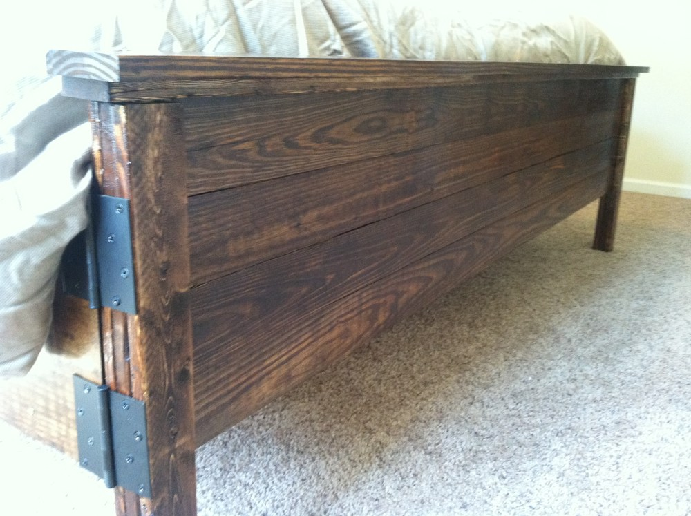 Build Rustic King Size Bed Frame