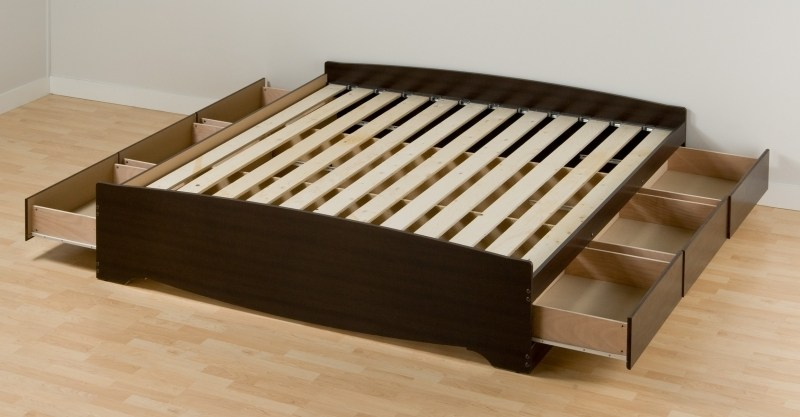 Build Wood Bed Frame Headboard