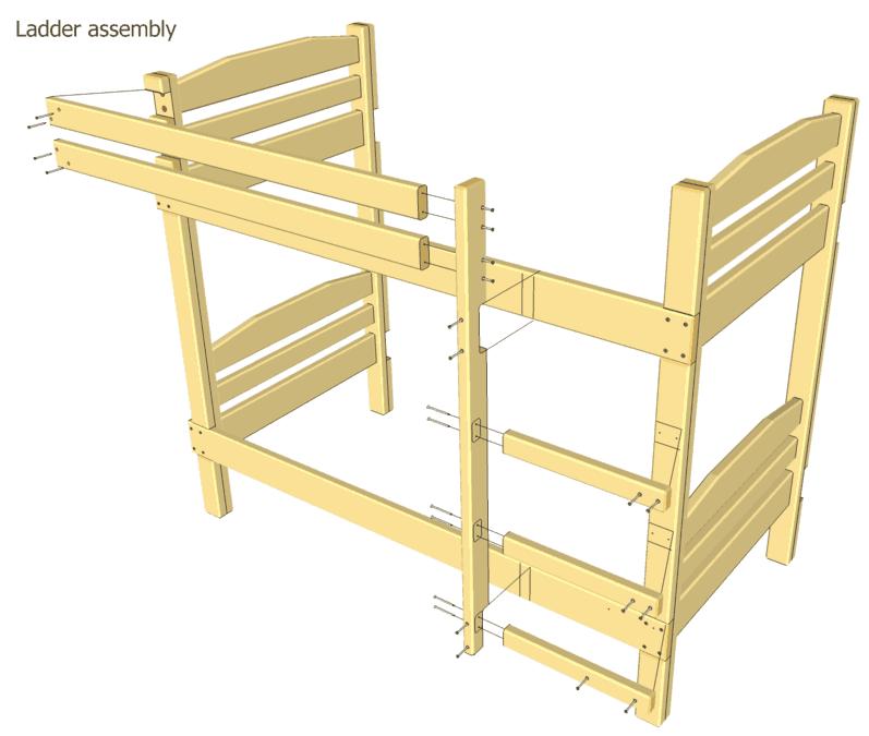 Bunk Bed Frame Plans