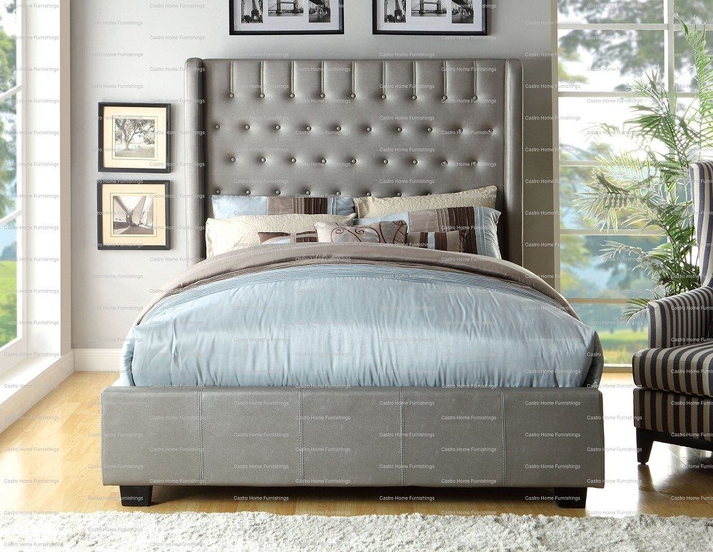 Button Tufted Bed Frame