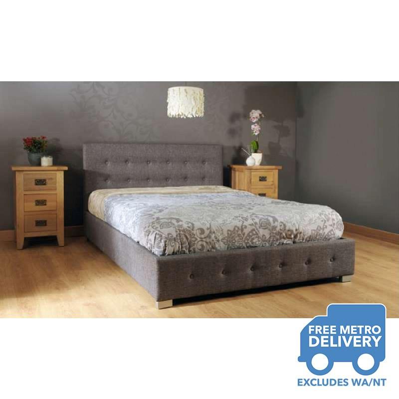 Buy Fabric Queen Bed Frame