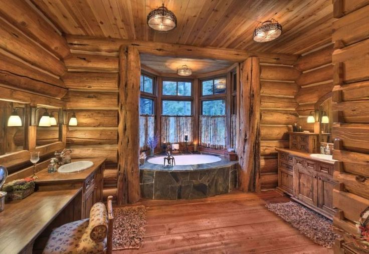 Cabin Bathroom Ideas Pinterest