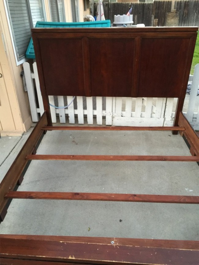 Cal King Cherry Wood Bed Frame