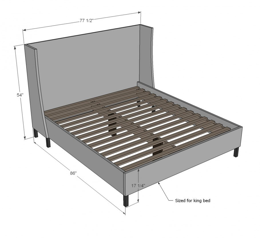California King Bed Frame Dimensions