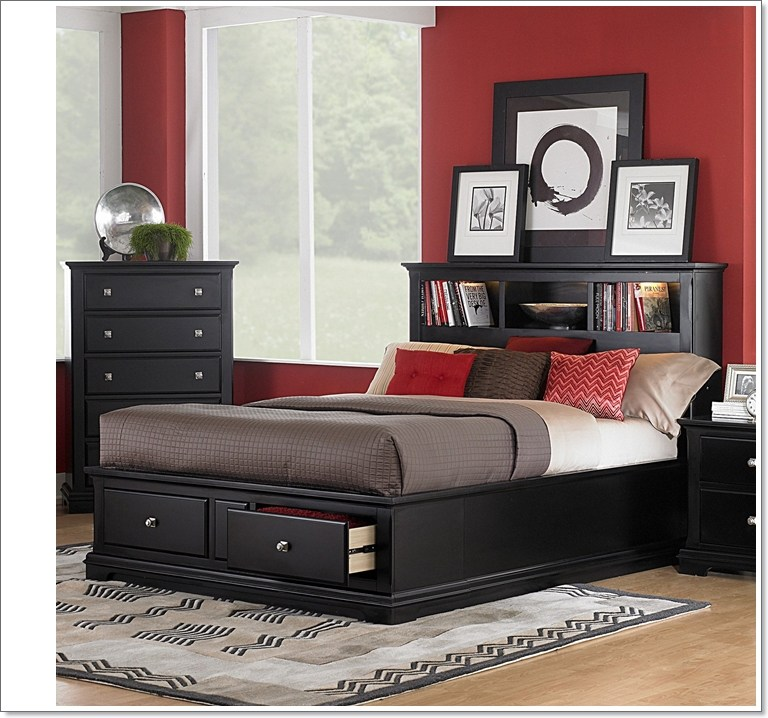 California King Platform Bed Frame With Drawers
