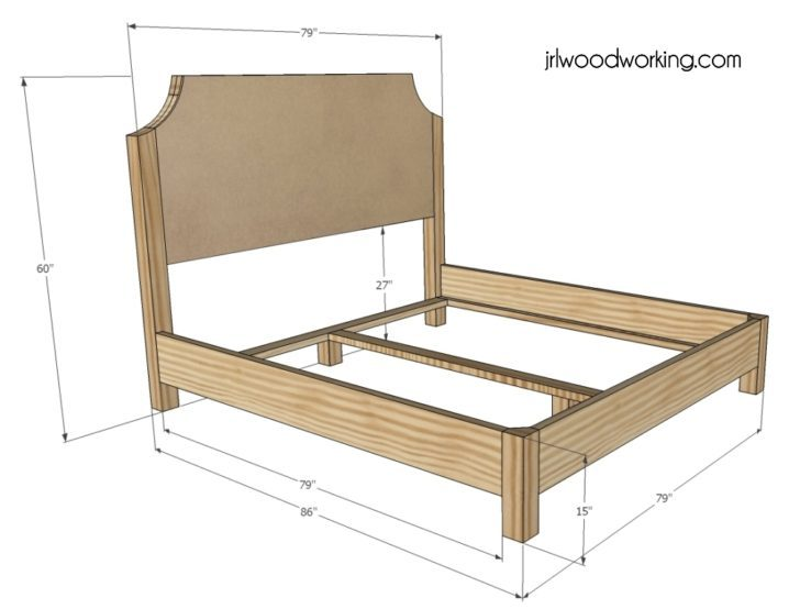 California King Size Bed Frame Dimensions