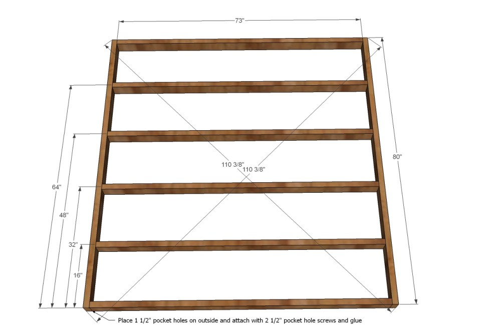 California King Size Bed Frame Plans