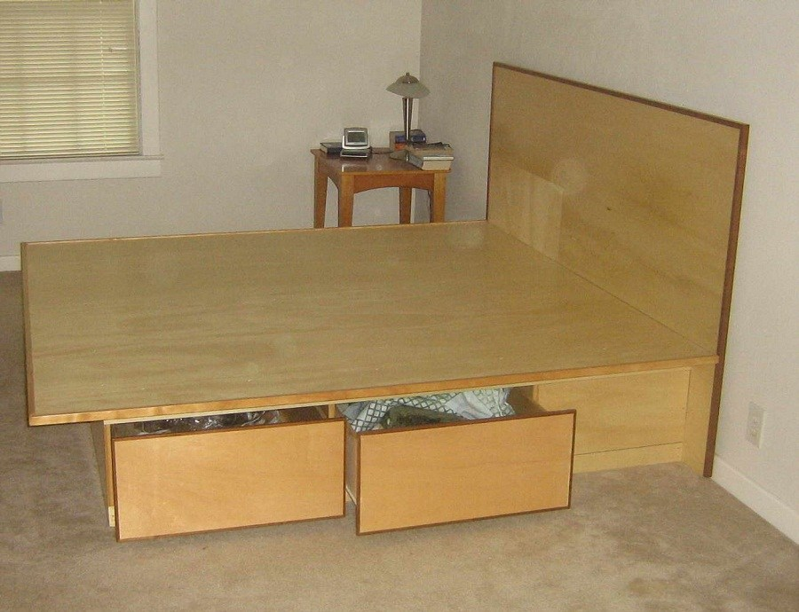 California King Size Bed Frame With Drawers