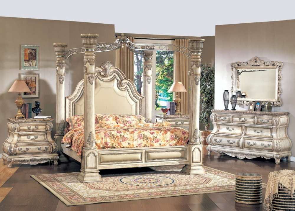 California King Size Canopy Bed Frame