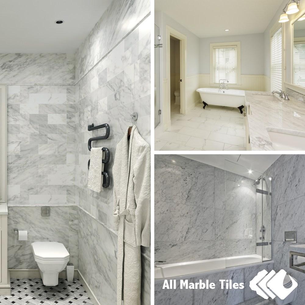 Carrara Marble Bathroom Ideas