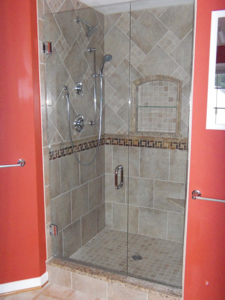 Ceramic Tile Shower Ideas Small Bathrooms