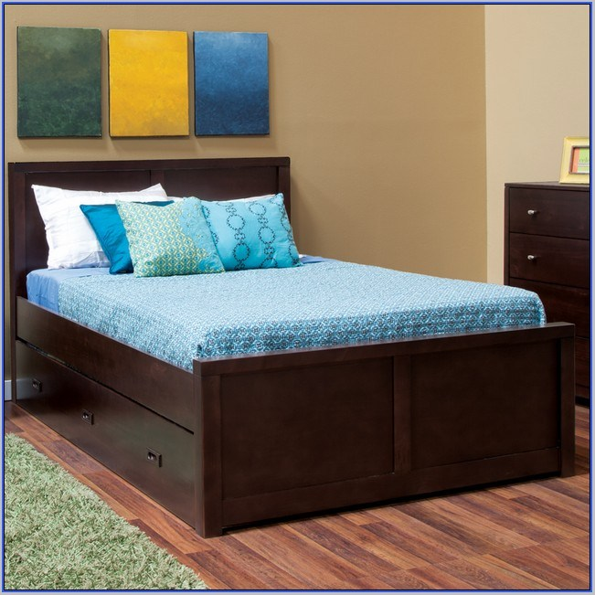 Cheap Full Size Bed Frames With Storage