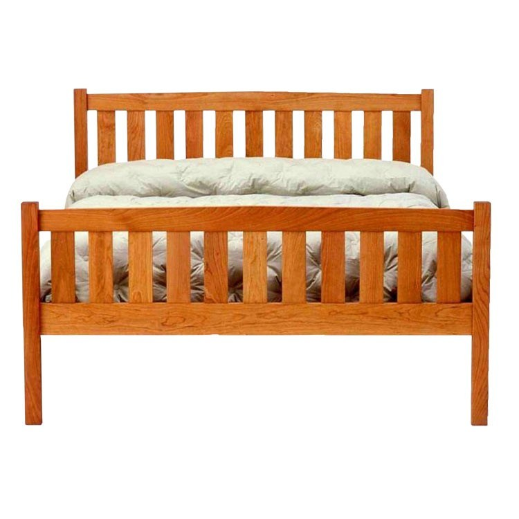 Cherry Wood Platform Bed Frame