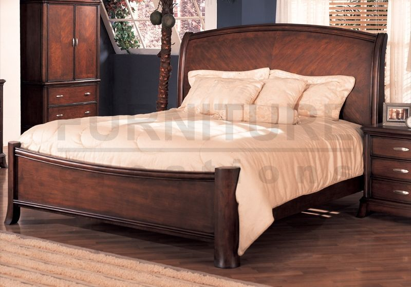 Cherry Wood Queen Bed Frame