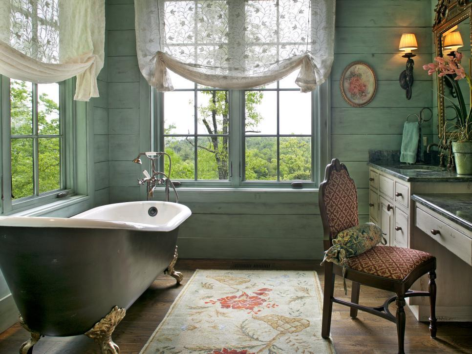 Contemporary Bathroom Window Treatment Ideas