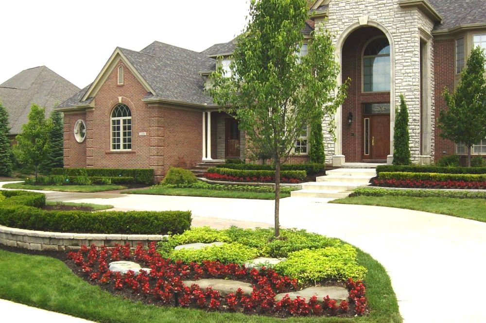 Corner Driveway Landscaping Ideas