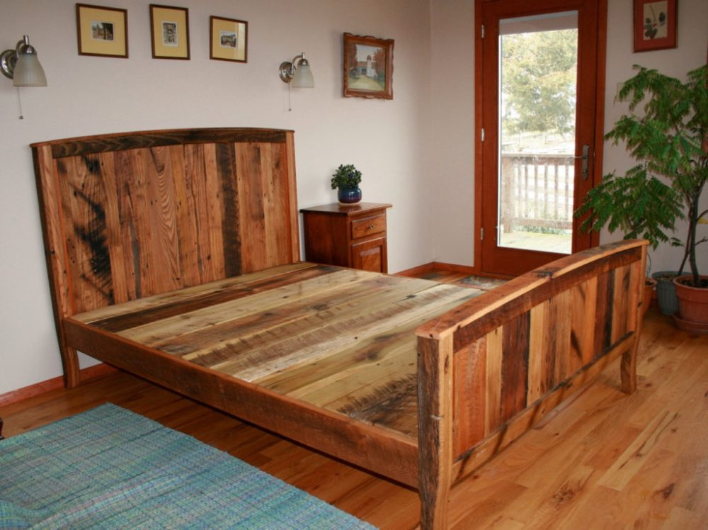 Country Style Wood Bed Frame