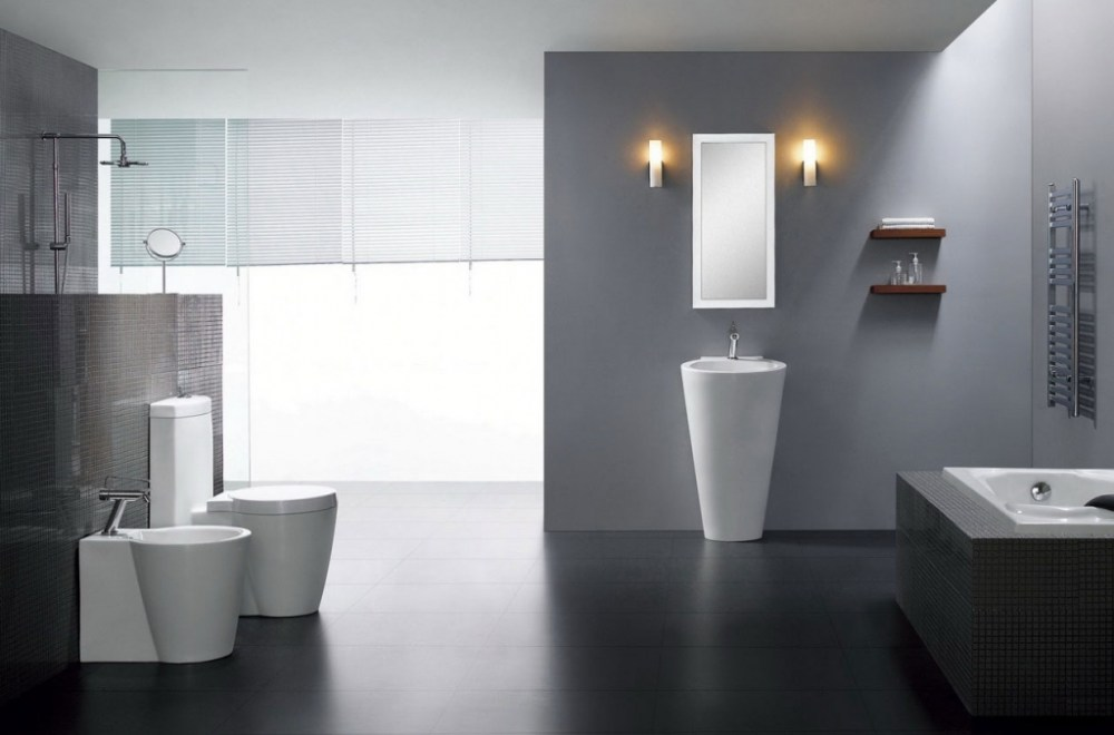 Dark Grey Tile Bathroom Ideas