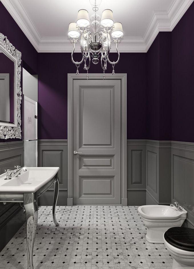 Dark Purple Bathroom Ideas