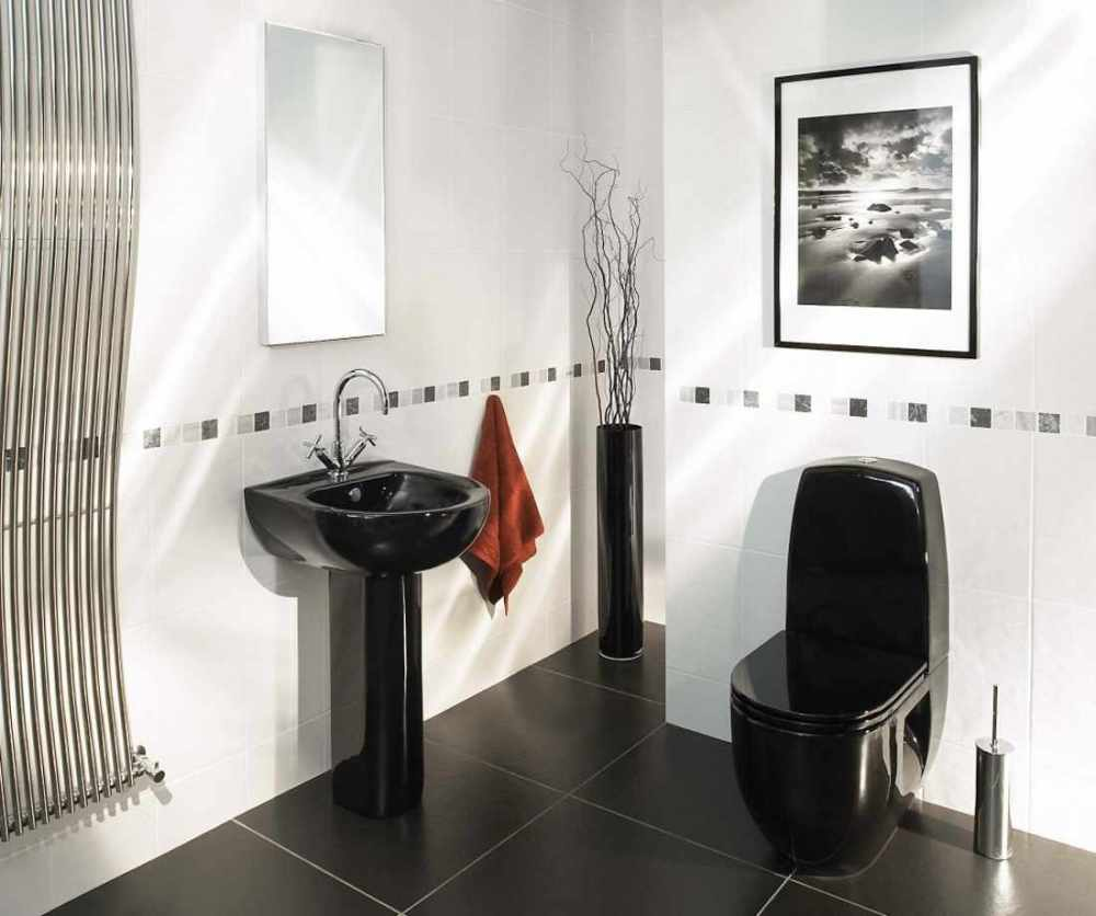 Decorating Bathroom Ideas Black And White