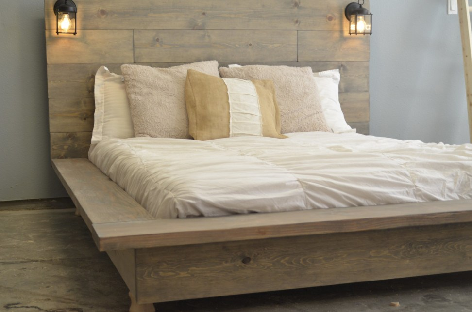 Distressed Wooden Bed Frames