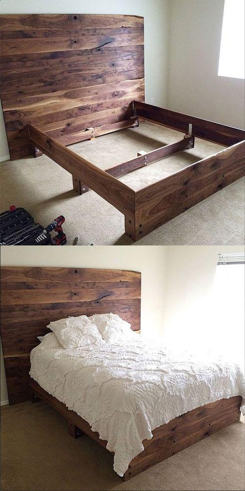 Diy Bed Frames Pinterest