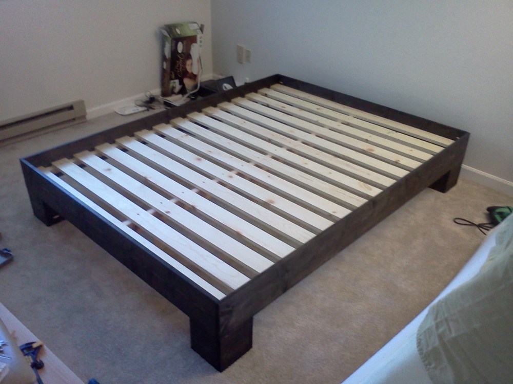Diy Full Size Wood Bed Frame