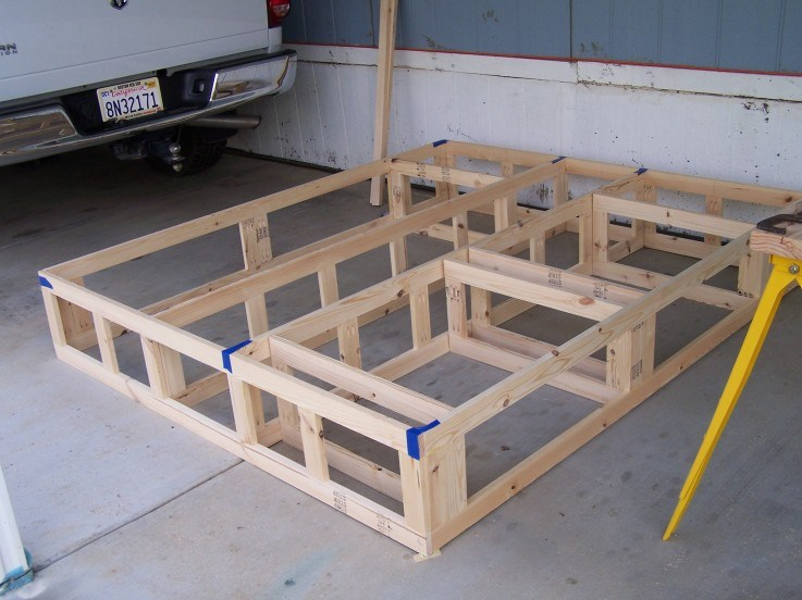 Diy King Size Bed Frame With Storage Plans