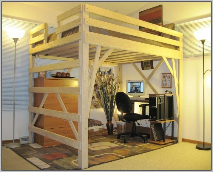 Diy Queen Size Loft Bed Frame