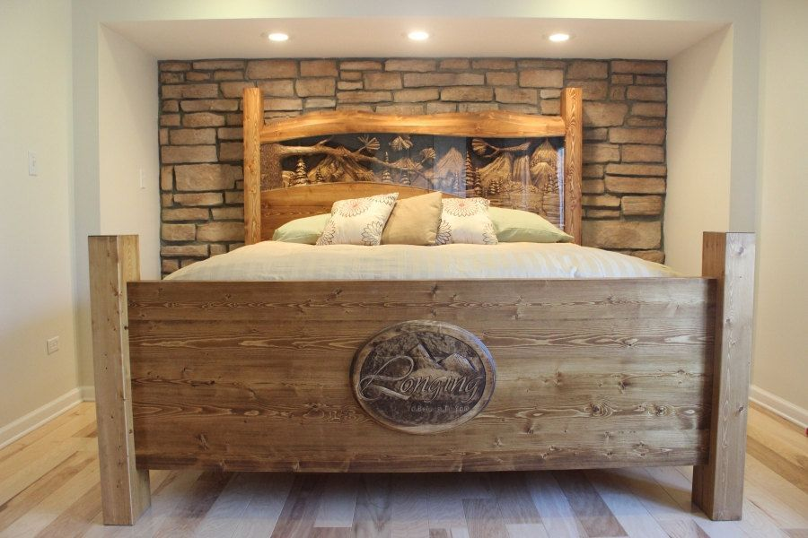 Diy Rustic Bed Frame