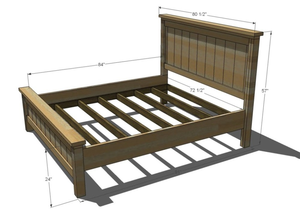 Double Bed Frame Size