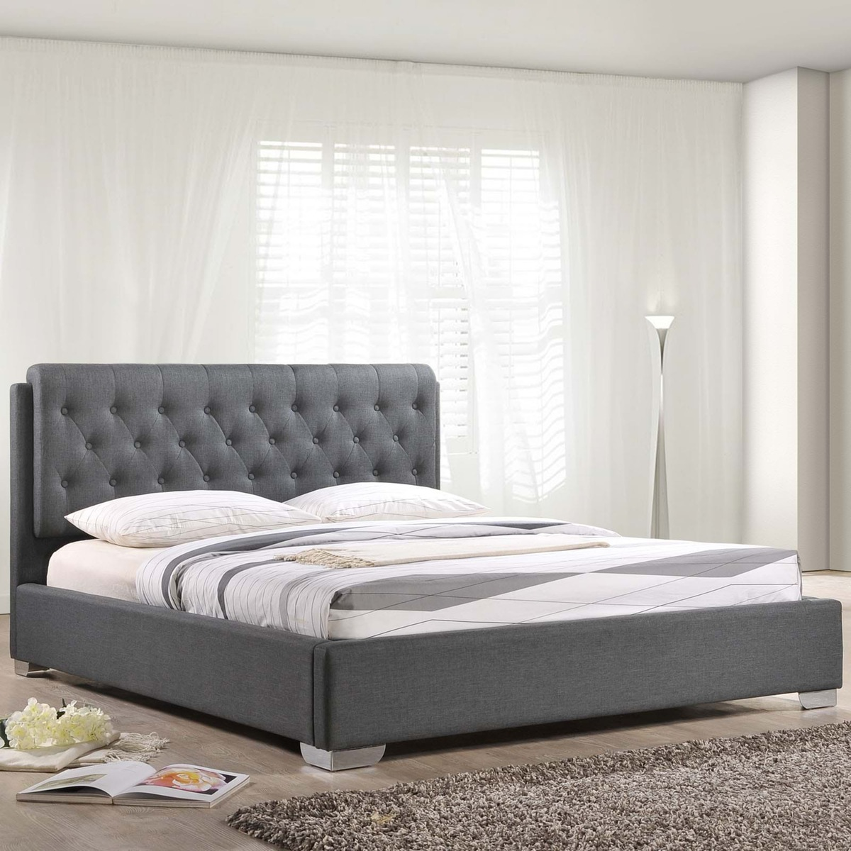 Fabric Bed Frame Full
