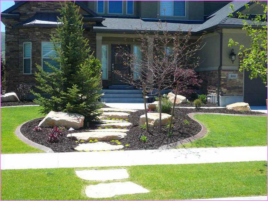 Front Yard Landscape Design No Grass