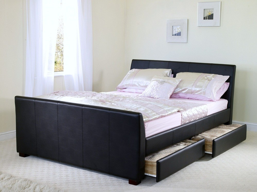 Full Bed Frame With Drawers